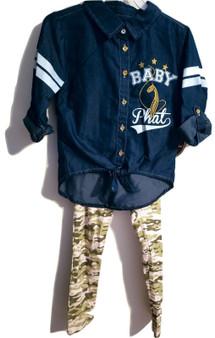 Baby Phat Blue White Set