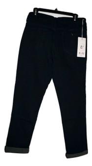 Dark Blue Cuff Jeans