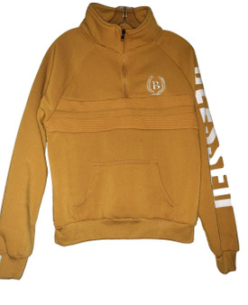 Yellow Zip Blessed Pull Over