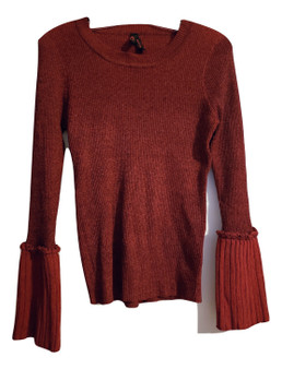 Red Wine Bell Sweater