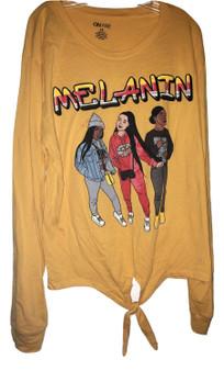 Yellow Melanin 3 Girls Tee