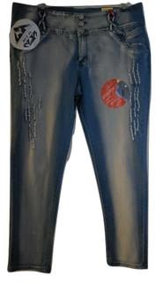 Sky Blue Distressed Skinny Jeans