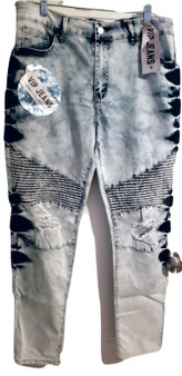 Sky Blue Wash Ripped Jeans