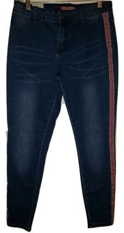Blue Red Stripe Jeans