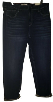 Blue Whisker Cuff Jeans