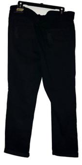 Black Distressed Cuff Jeans