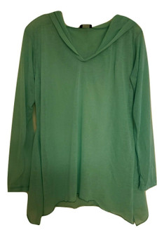 Mint Green Sheer Shirt Hoodie