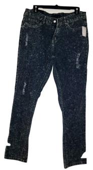 Dark Blue Ripped Wash Jeans