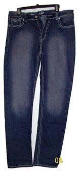 Med Blue Faded Skinny Jeans