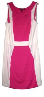 Pink White Body Con Dress