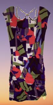 Purple Symmetrical Chain Body Con Dress