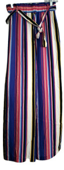 Blue Yellow Stripe Wide Leg Palazzo