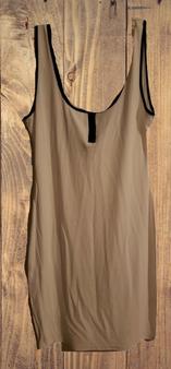 White Black Rib Dress