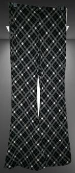 Black White Checkered Wide Palazzo