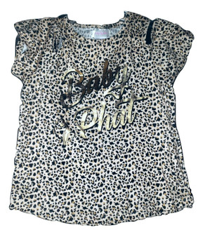 Baby Phat Cheeta Print Over Shoulder Shirt