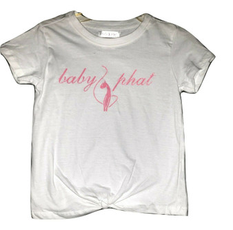 Baby Phat White Tie Front Shirt