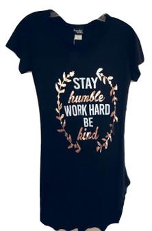 Black Stay Humble Work Hard