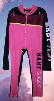 Baby Phat Pink Black Mesh Set