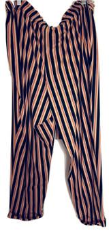 Mustard Navy Tie Cuff Pants