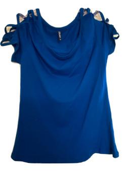 Royal Blue Cage Shoulder