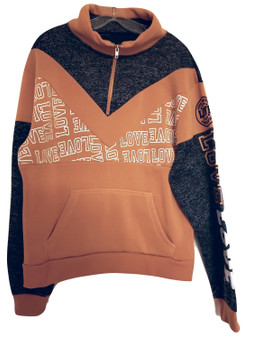 Mustard Charcoal Love Pull Over
