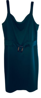 Green Buckle Front Dress