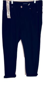 Black High Rise Cuff Skinny Jeans