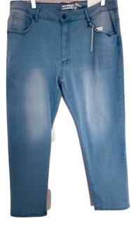 Lite Blue Whisker Cuff Jeans