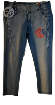 Lite Blue Distressed Skinny Jeans