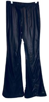 Black Coated Flare Pants