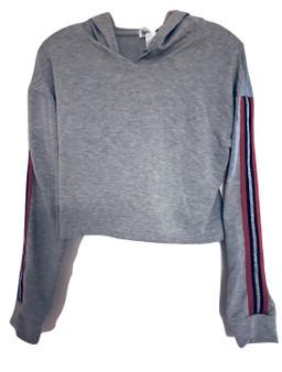 Gray Red Black Silver Draw String Hood