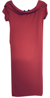 Red Over Shoulder Ruffle Hilo