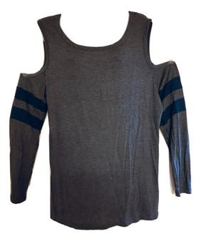 Gray Blue Cold Shoulder
