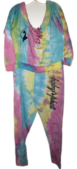 Baby Phat Rain Bow Shoulder Jump Suit