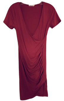 Red Side Wrap Dress