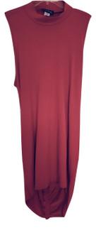 Red Rib Cut Out Back Dress