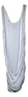 White Rib Tank Dress