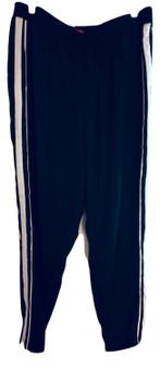 Black White Woven Pants