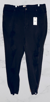 Black Fade Distressed Skinny Jeans