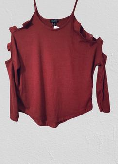 Burnt Red Cold Shoulder