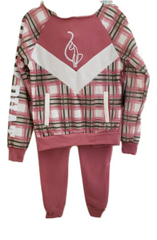 Baby Phat Mauve Plaid 2PC Set
