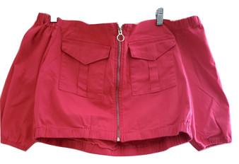 Dark Pink Jean Over Shoulder