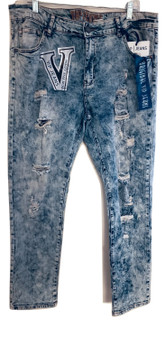 Cloud Blue Distressed Skinny Jeans