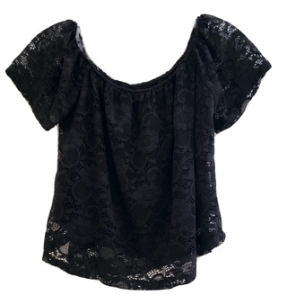 Black Lace Crop