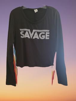 Black Fringe Rainbow Savage