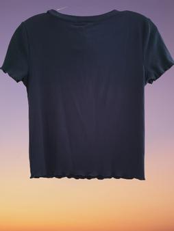 Navy Blue Rib Top
