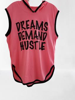 Neon Pink Dreams Demand Hustle