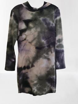 Black Tan Dye Hood Dress