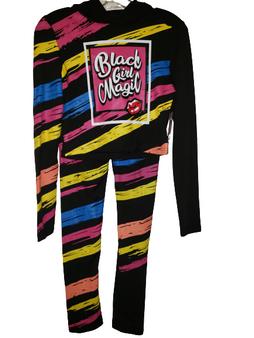 Black Pink Black Girl Magic Hood Set