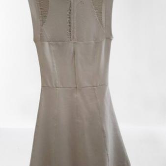 White Mesh Net Body Con Dress